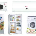 Tue lạnh, tivi, máy giặt, điều hòa cũ